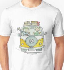 VW Camper Van and Happy Campers Unisex T-Shirt