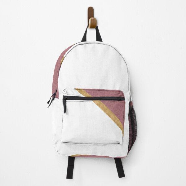 Minimal Glitter Rose Gold and White Design Backpack