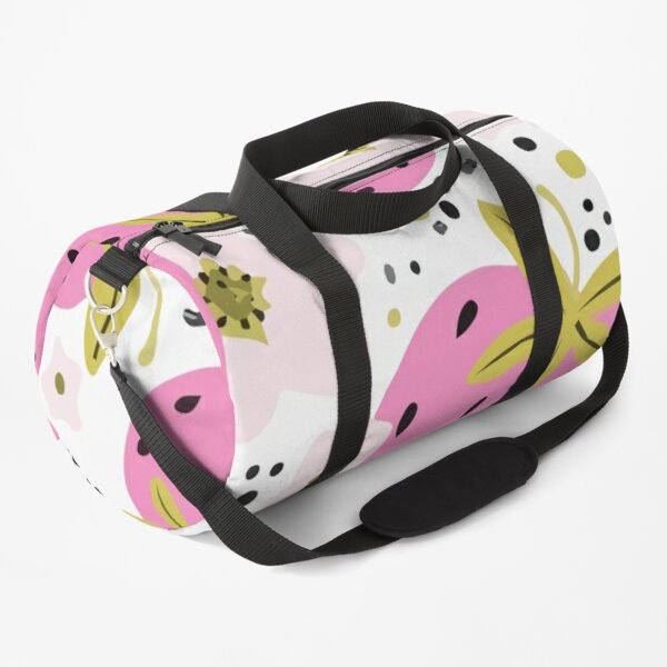 Seamless hand drawn pattern with berries and strawberries Duffle Bag