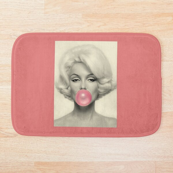 MARILYN MONROE : Bubble Blowing Print Bath Mat