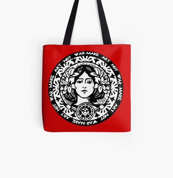 MAKE ART NOT WAR All Over Print Tote Bag