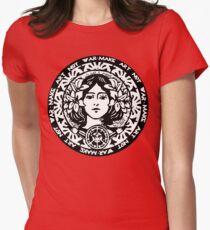MAKE ART NOT WAR Women's Fitted T-Shirt