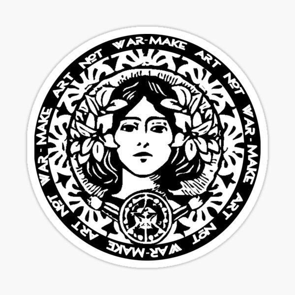 FAIRE DE L'ART PAS DE GUERRE Sticker