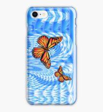 Butterflies in a Blue Sky iPhone Case/Skin