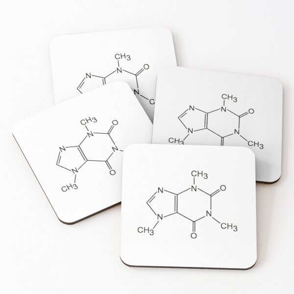 Caffeine Molecule Coasters (Set of 4)
