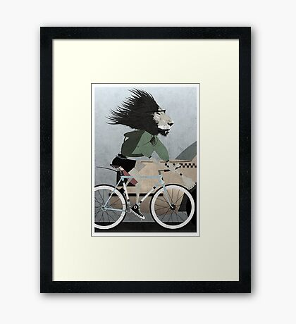 Alleycat Race Framed Print