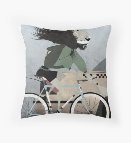 Alleycat Race Throw Pillow