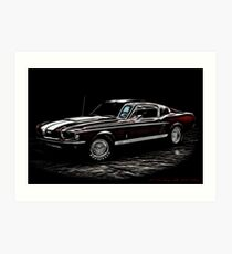 1967 Ford Mustang Shelby 350 Fastback Art Print