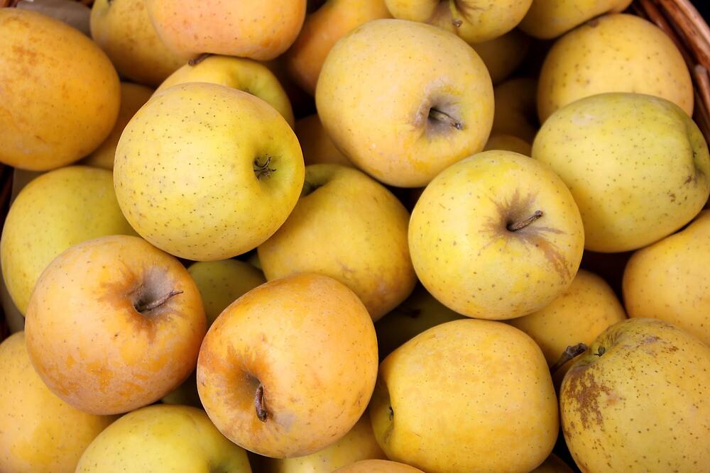 Golden Apples in a Basket by kirilart