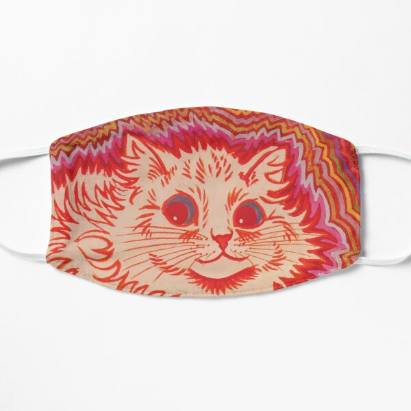 Louis Wain Orange Psychadelic Cat Flat Mask