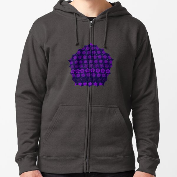 Amethyst in the Sparkling Sea Zipped Hoodie