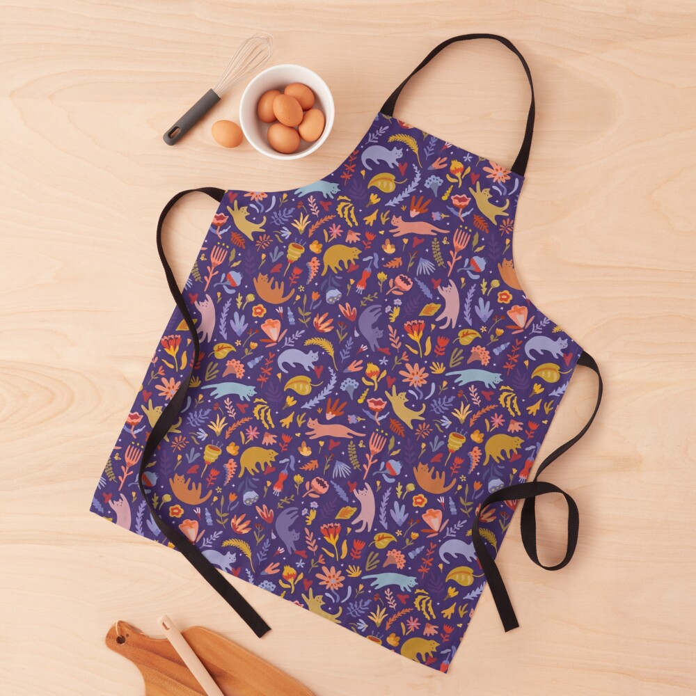 Candy Cats in the Magic Garden Apron