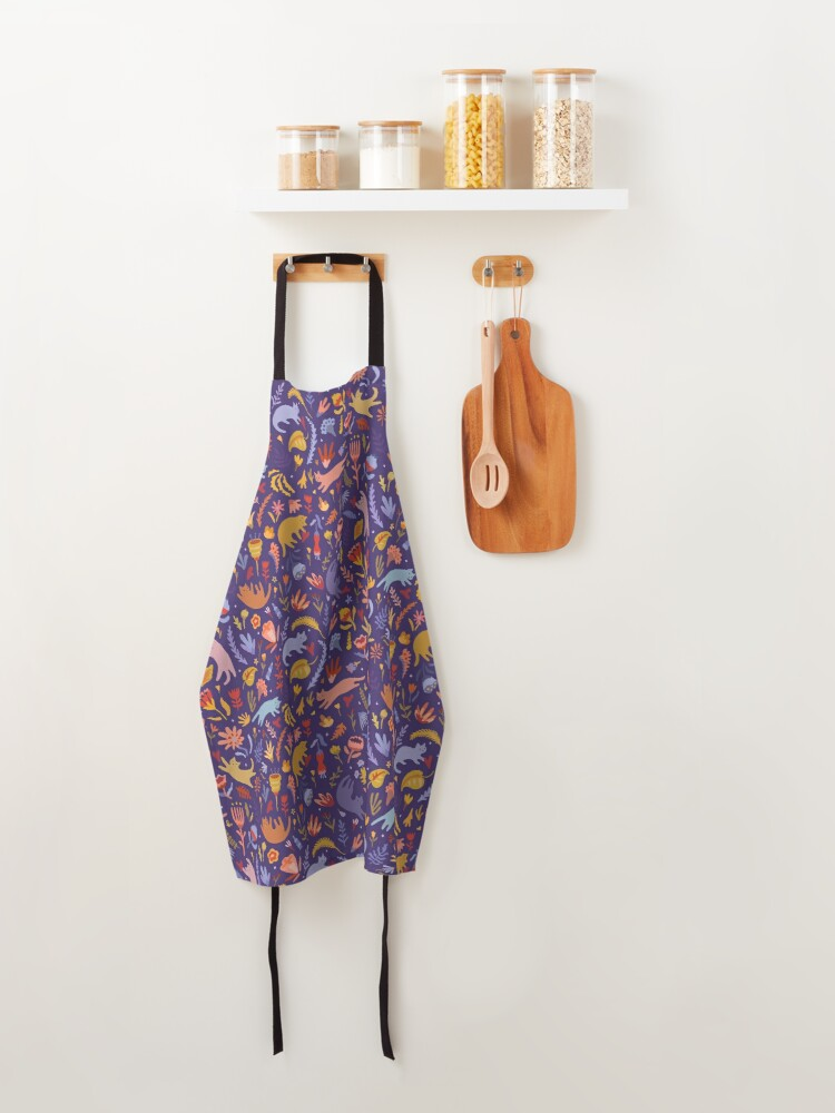 Alternate view of Candy Cats in the Magic Garden Apron