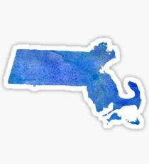 Massachusetts State Watercolor Sticker