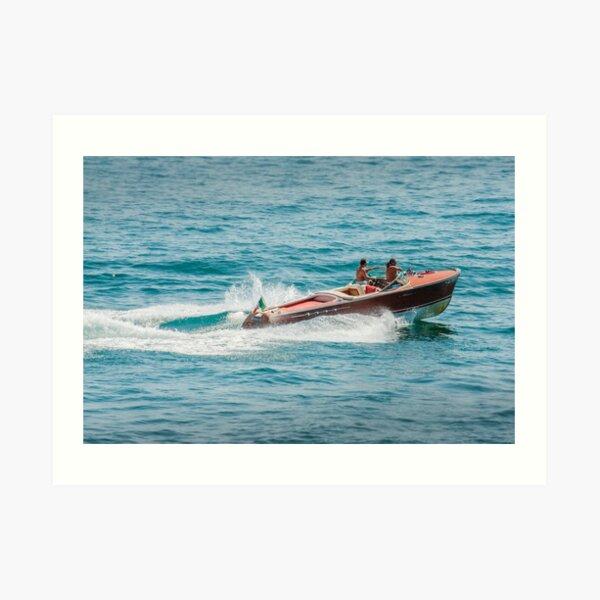boat on the lago maggiore (003) Art Print