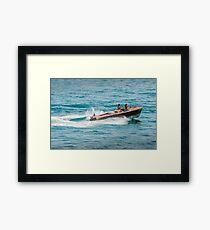 boat on the lago maggiore (003) Framed Print