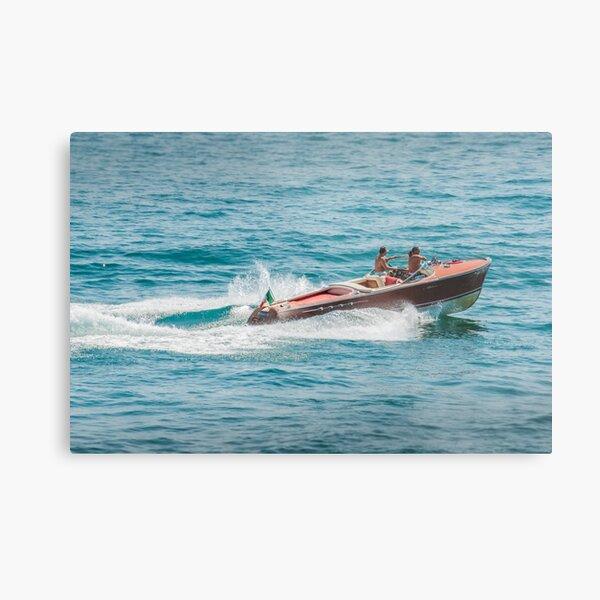 boat on the lago maggiore (003) Metal Print