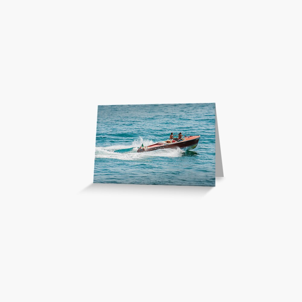 boat on the lago maggiore (003) Greeting Card
