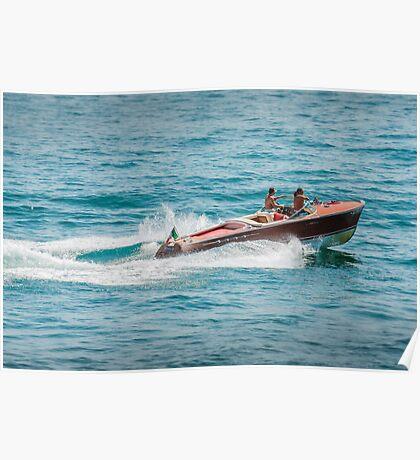 boat on the lago maggiore (003) Poster