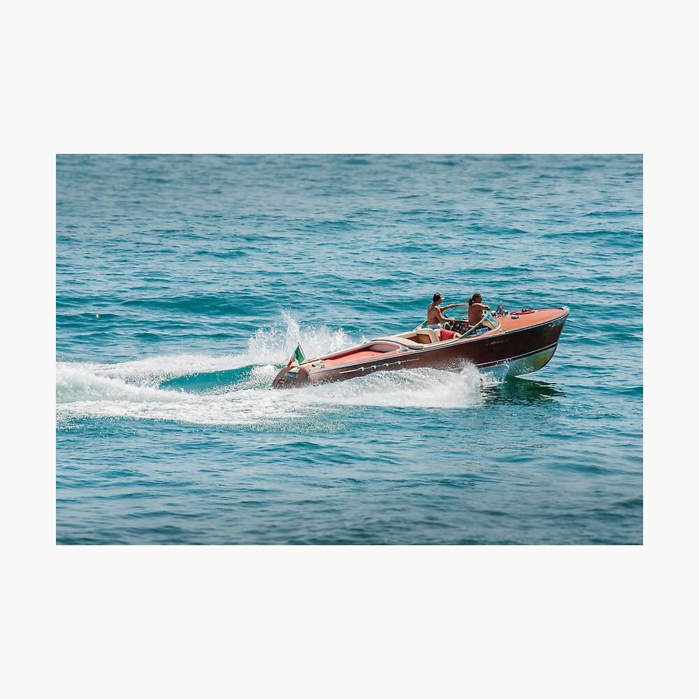 boat on the lago maggiore (003) Photographic Print