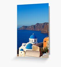 Santorini, Greece Greeting Card
