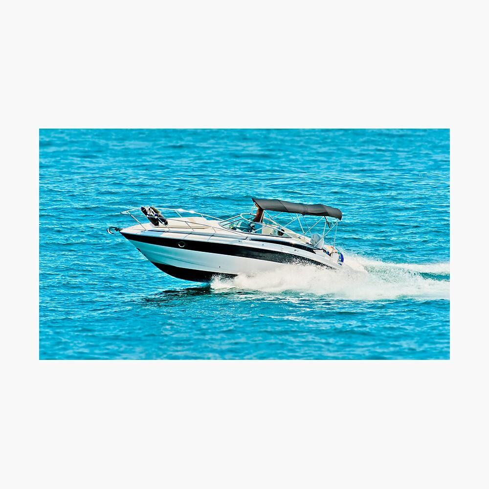 boat on the lago maggiore (002) Photographic Print