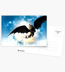 Toothless and Hiccup Postcards