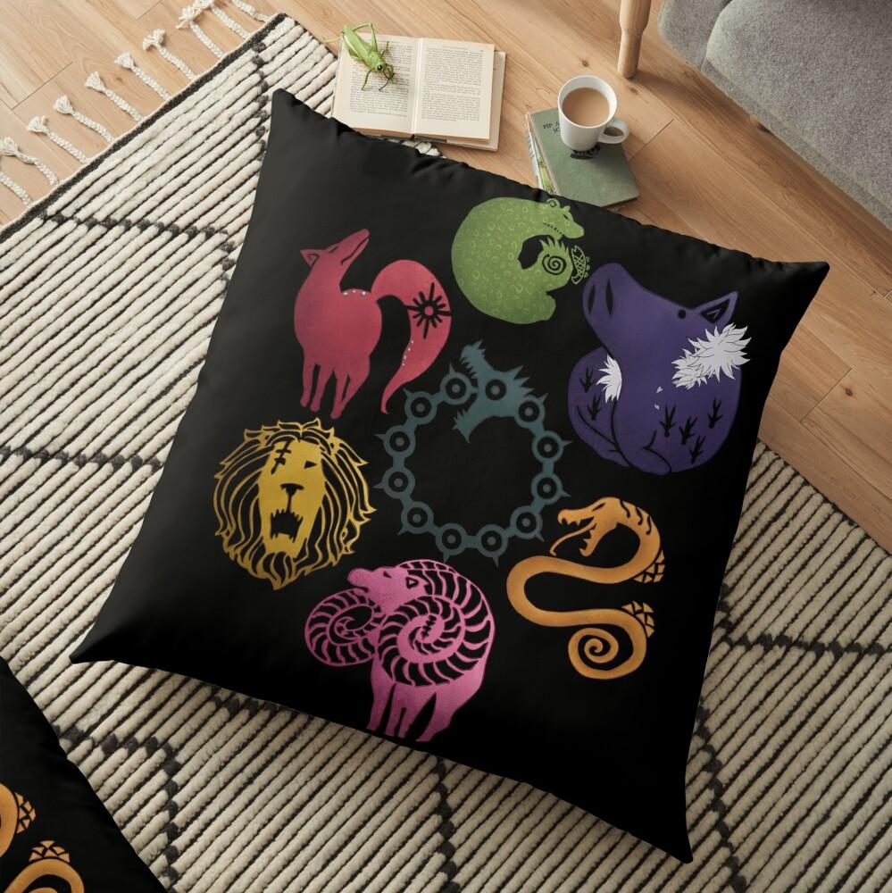 Seven deadly sins Floor Pillow