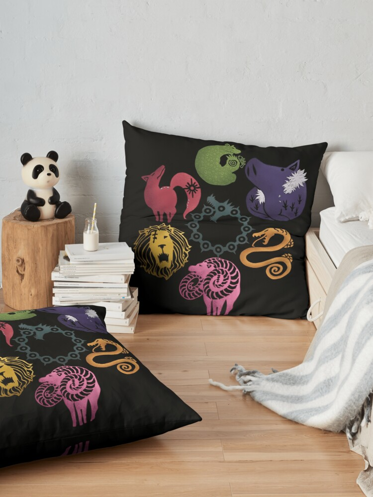 Alternate view of Seven deadly sins Floor Pillow