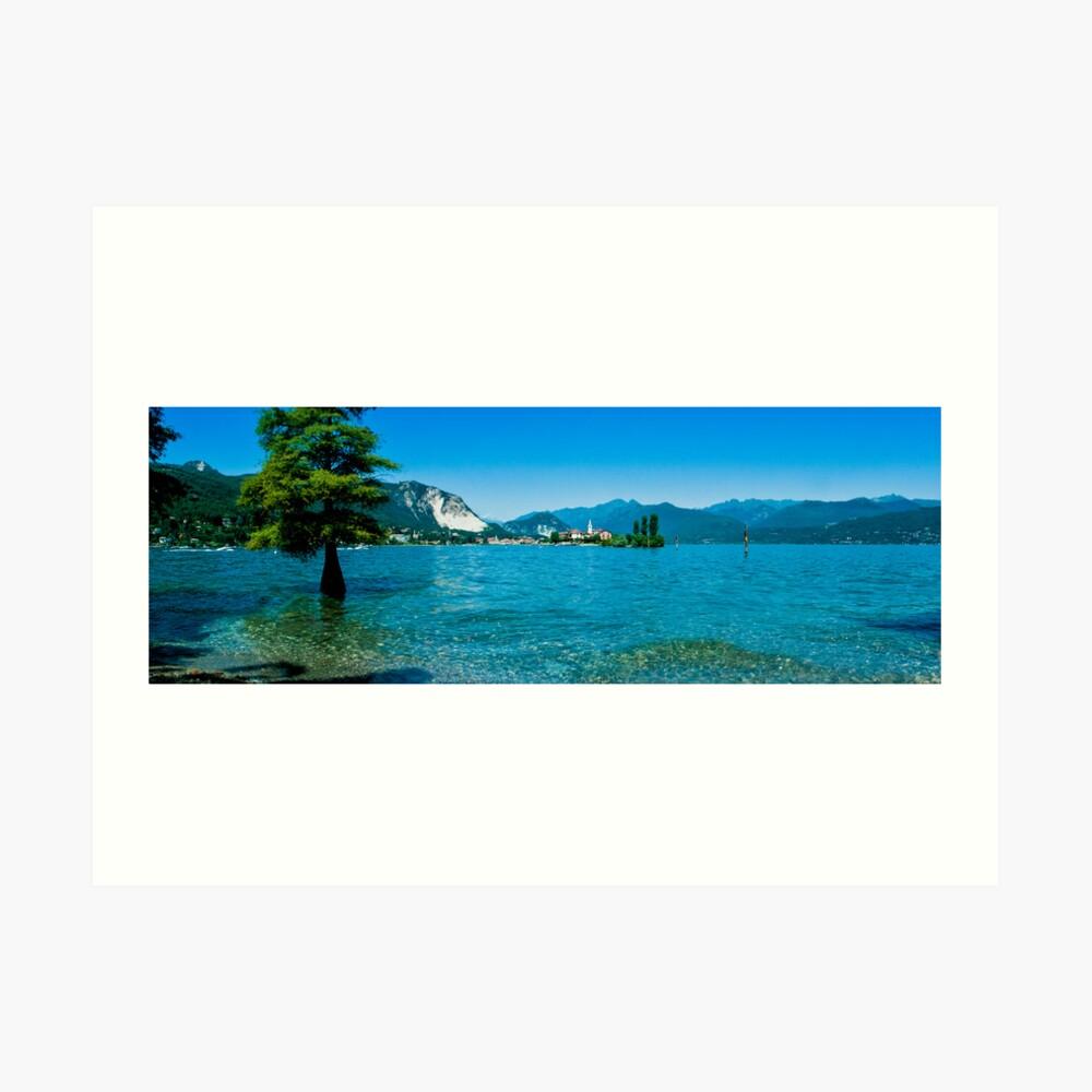 lago maggiore hdr, isola superiore o dei pescatori Art Print