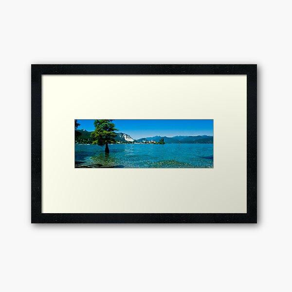 lago maggiore hdr, isola superiore o dei pescatori Framed Art Print