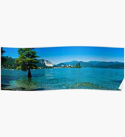 lago maggiore hdr, isola superiore o dei pescatori Poster