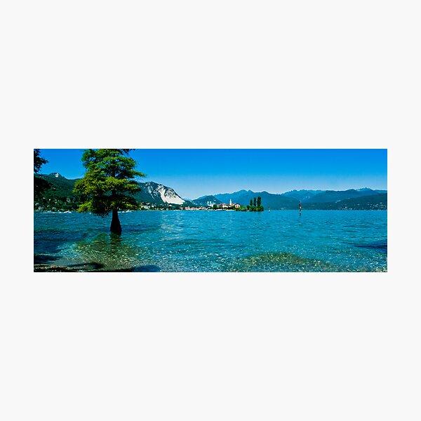 lago maggiore hdr, isola superiore o dei pescatori Photographic Print