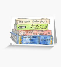 Jane Austen Books Greeting Card