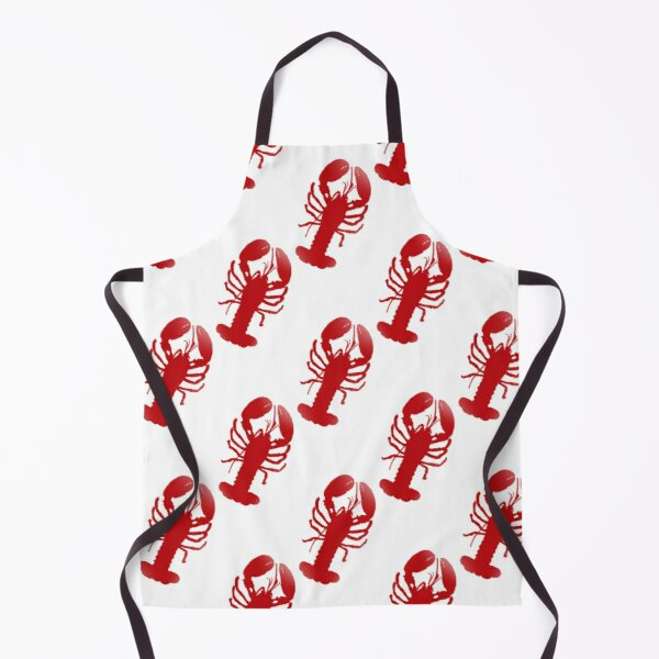 Red Lobster Repeating Pattern Apron