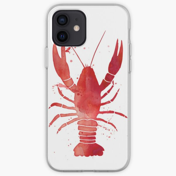 Watercolor Red Lobster iPhone Soft Case