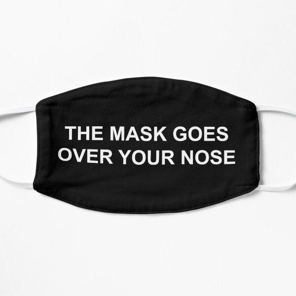 La máscara va sobre tu máscara de nariz. Mascarilla plana