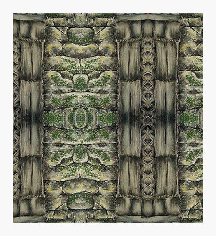 Pastel Masonry Pattern Photographic Print