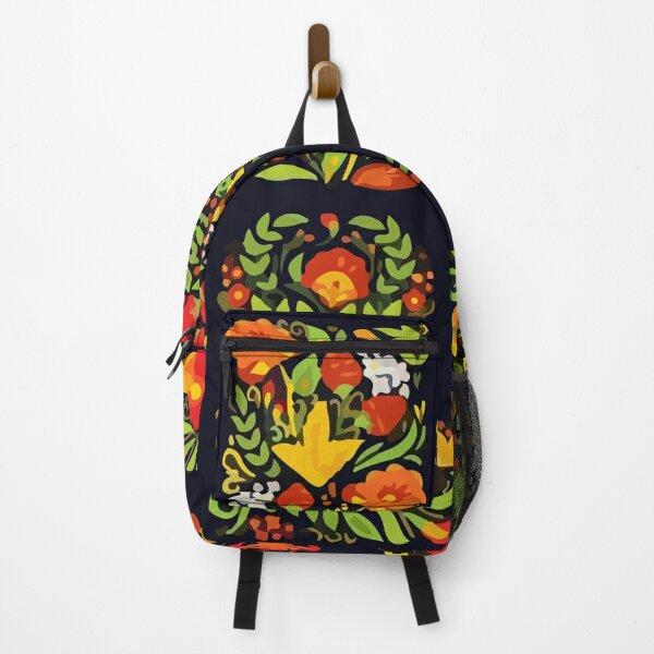 Vector design of pattern khokhloma Backpack
