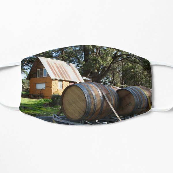 Wine Barrels at Magpie Springs Adelaide Hills Wine Region - Fleurieu Peninsula - by South Australian artist Avril Thomas Mask