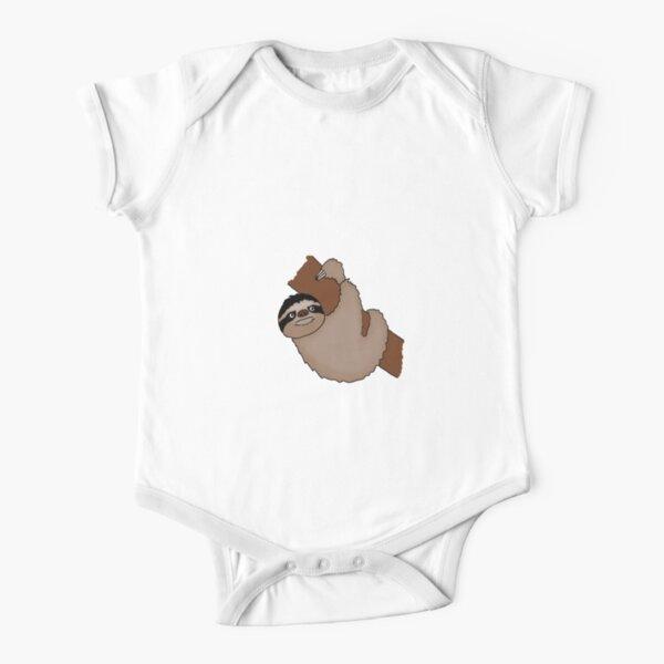 Sloth cartoon digital design Short Sleeve Baby One-Piece