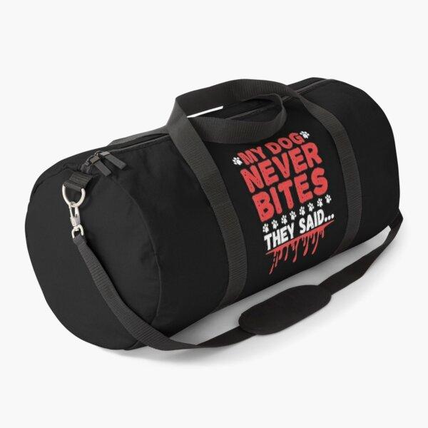 Vet Tech My Dog Never Bites Duffle Bag