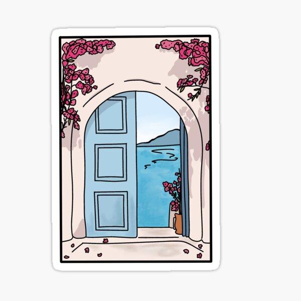 Mamma Mia - Blue Doorway Sticker