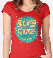 Rick & Morty - Blips and Chitz! Women's Fitted Scoop T-Shirt