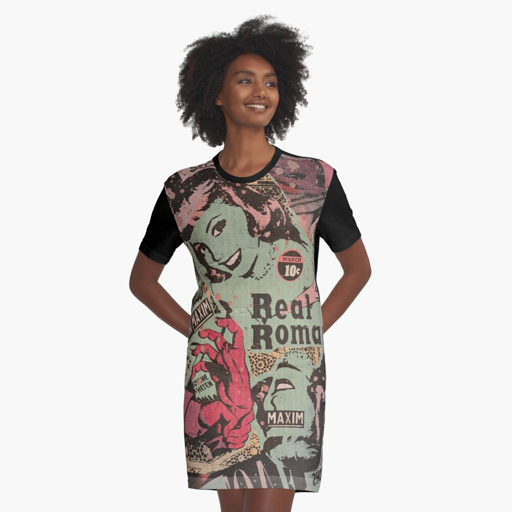 Gawk but Don't Touch Graphic T-Shirt Dress
