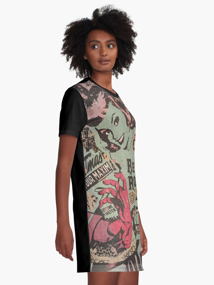 Alternate view of Gawk but Don't Touch Graphic T-Shirt Dress