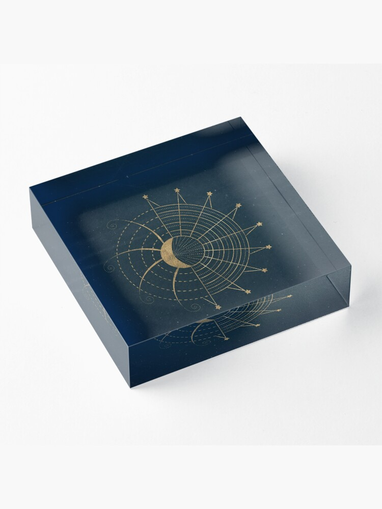 Alternate view of Sci-Fi Sun and Moon Symbol Acrylic Block