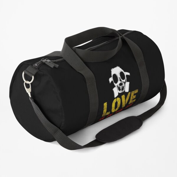 Love Is In The Air - Anti Valentines Day, Anti Valentines Day Shirt, Singles Awareness Day, Funny Gas Mask Anti-Valentine's Day, Funny Valentine's Day Shirt Graphic T-Shirt Duffle Bag
