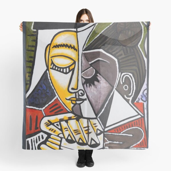 Picasso Avant Garde Woman Portrait Abstract Art Scarf