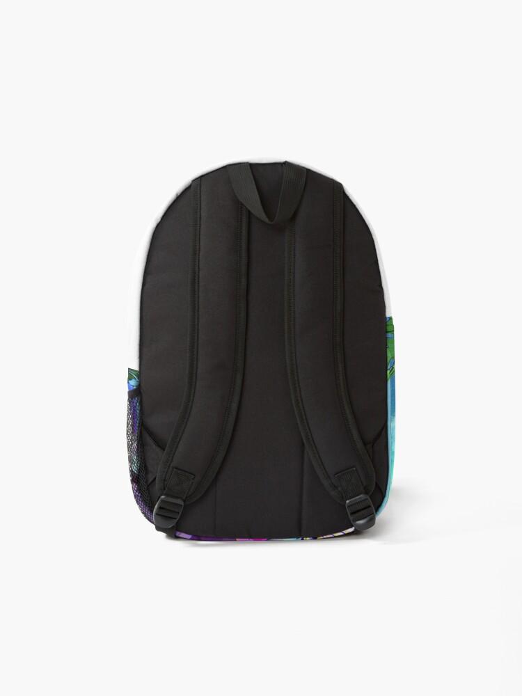 Alternate view of vaporwave aesthetic Backpack